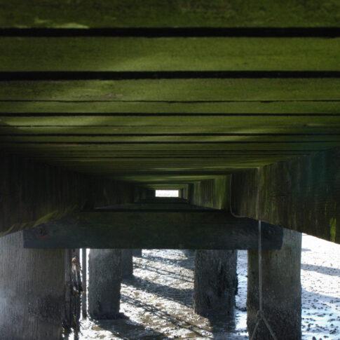 Steg von unten, Steenodde, Amrum