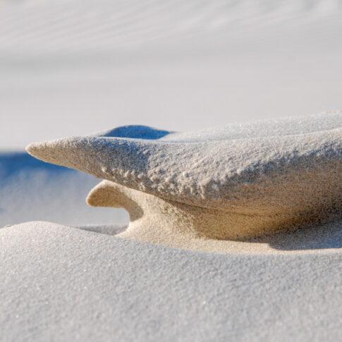 Der Wind als Bildhauer am Strand